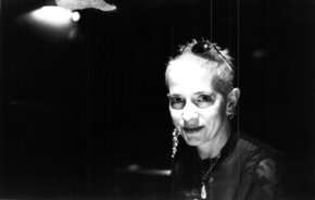 [Translate to English:] Kathy Acker, 1996 in München