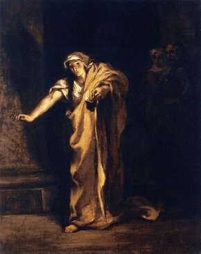 [Translate to English:] Lady Macbeth Sleepwalking, Eugène Delacroix, 1849