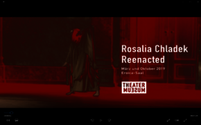 "[Translate to English:] Trailer ""Rosalia Chladek Reenacted"", März und Oktober 2019, Eroica Saal /Theatermuseum Wien mit Reenactments von Katharina Illnar, Eva-Maria Schaller, Katharina Senk, Farah Deen, Eva-Maria Kraft, Martina Haager und Loulou OmerTrailer ""Rosalia Chladek Reenacted"", März und Oktober 2019, Eroica Saal /Theatermuseum Wien mit Reenactments von Katharina Illnar, Eva-Maria Schaller, Katharina Senk, Farah Deen, Eva-Maria Kraft, Martina Haager und Loulou Omer"